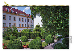 Carry-all Pouch featuring the photograph Prague Courtyards. Regular Style Garden by Jenny Rainbow