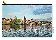 Prague From The River Carry-all Pouch