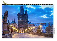 Prague In Blue Carry-all Pouch