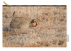 Carry-all Pouch featuring the photograph Prairie Chicken 10-2015 by Thomas Young