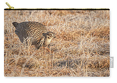 Carry-all Pouch featuring the photograph Prairie Chicken 11-2015 by Thomas Young