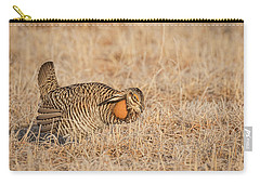 Carry-all Pouch featuring the photograph Prairie Chicken 9-2015 by Thomas Young