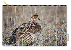 Carry-all Pouch featuring the photograph Prairie Chicken - Portrait by Nikolyn McDonald