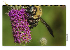 Prairie Clover And The Bee Carry-all Pouch by Garry McMichael