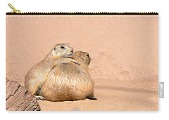 Prairie Dog Friends Carry-all Pouch by Laurel Powell