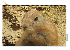 Prairie Dog Peek Carry-all Pouch by Robin Regan