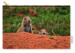 Carry-all Pouch featuring the photograph Prairie Dogs 004 by George Bostian