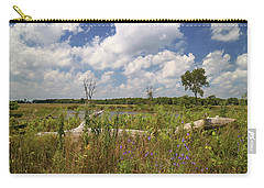 Carry-all Pouch featuring the photograph Prairie Wetland by Scott Kingery