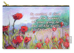 Praising Poppies With Bible Verse Carry-all Pouch