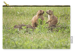 Carry-all Pouch featuring the photograph Prarie Dog Lovebirds by Brenda Jacobs