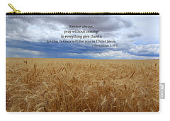 Carry-all Pouch featuring the photograph Pray Without Ceasing by Lynn Hopwood