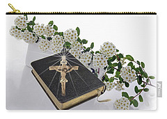 Prayer Book With Flowers Carry-all Pouch