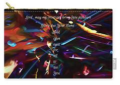 Carry-all Pouch featuring the digital art Prayer Of An Artist by Margie Chapman