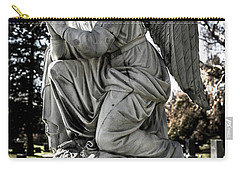 Carry-all Pouch featuring the photograph Praying Cemetery Angel  by Gary Whitton