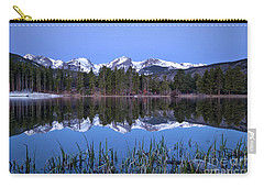 Pre Dawn Image Of The Continental Divide And A Sprague Lake Refl Carry-all Pouch by Ronda Kimbrow