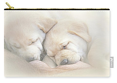 Carry-all Pouch featuring the photograph Precious Lab Puppies Nursing by Jennie Marie Schell