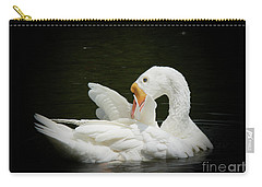 Carry-all Pouch featuring the photograph Preening by Lisa L Silva