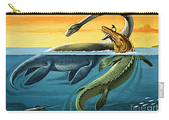 Prehistoric Creatures In The Ocean Carry-all Pouch by English School