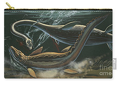 Prehistoric Marine Animals, Underwater View Carry-all Pouch