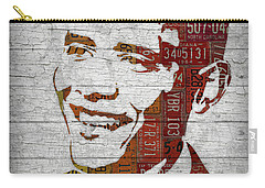 President Barack Obama Portrait United States License Plates Carry-all Pouch by Design Turnpike