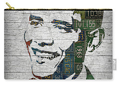 President Barack Obama Portrait United States License Plates Edition Two Carry-all Pouch by Design Turnpike