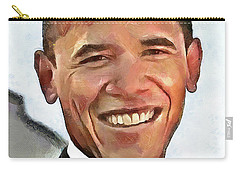 President Barack Obama Carry-all Pouch by Wayne Pascall