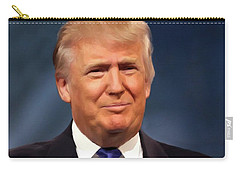 President Donald John Trump Portrait Carry-all Pouch by Movie Poster Prints