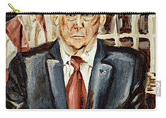 Carry-all Pouch featuring the painting President Donald Trump by Ryan Demaree