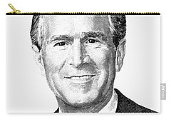 President George W. Bush Graphic - Black And White Carry-all Pouch