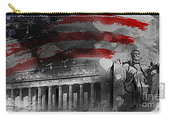 Carry-all Pouch featuring the painting President Lincoln  by Gull G