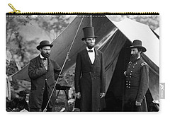 Carry-all Pouch featuring the photograph President Lincoln Meets With Generals After Victory At Antietam by International  Images