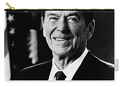 Carry-all Pouch featuring the photograph President Ronald Reagan by International  Images
