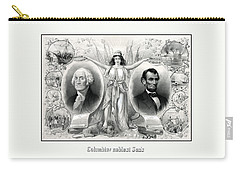 Presidents Washington And Lincoln Carry-all Pouch by War Is Hell Store