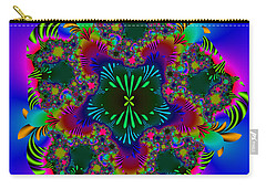Carry-all Pouch featuring the digital art Prettering by Andrew Kotlinski