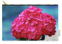 Pretty Blooming Pink Hydrangea Flowers Carry-all Pouch by DejaVu Designs