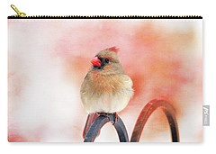 Pretty Cardinal Carry-all Pouch by Trina Ansel