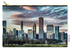 Pretty Clouds Over Chicago Skyline Carry-all Pouch