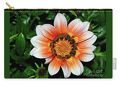 Carry-all Pouch featuring the photograph Pretty Gazania By Kaye Menner by Kaye Menner