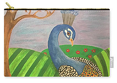 Pretty In Peacock Carry-all Pouch