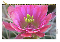 Carry-all Pouch featuring the photograph Pretty In Pink Hedgehog  by Saija Lehtonen