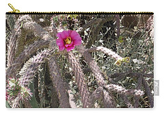 Flower Is Pretty In Pink Cactus Carry-all Pouch