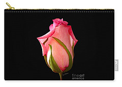 Pretty In Pink Rosebud Carry-all Pouch