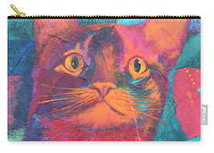 Pretty Kitty Carry-all Pouch by Nancy Jolley