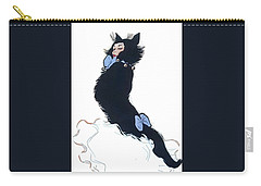 Carry-all Pouch featuring the digital art Pretty Kitty by ReInVintaged