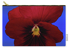 Carry-all Pouch featuring the photograph Pretty Pansy by Donna Brown