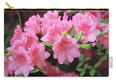 Pretty Pink Azalea Blossoms Carry-all Pouch