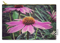 Pretty Pink Flower Parasol Carry-all Pouch by Karen Stahlros