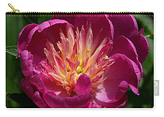 Pretty Pink Peony Flower Carry-all Pouch