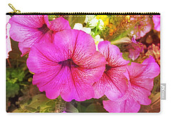 Pretty Pink Petunias Carry-all Pouch