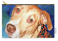 Pretty Please, Dog Portrait, Dog Painting, Dog Print, Dog Art Carry-all Pouch